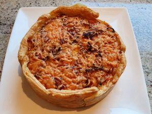 Hartige taart met tomaat en courgette uit de airfryer