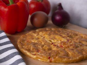 Een gezond boeren omelet in de airfryer
